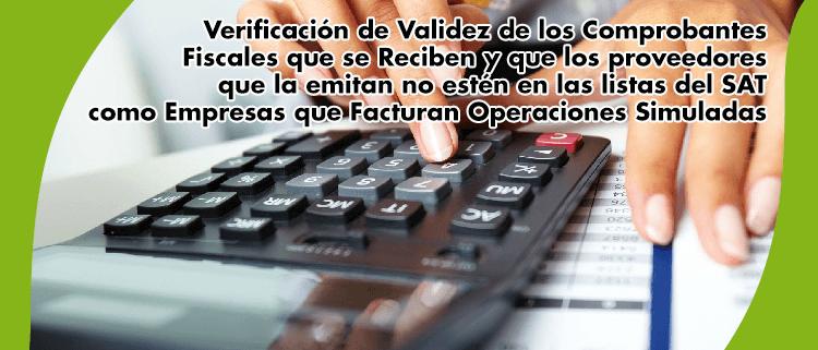 Consultoria y negocio -Verificación de Validez de los Comprobantes Fiscales - titul